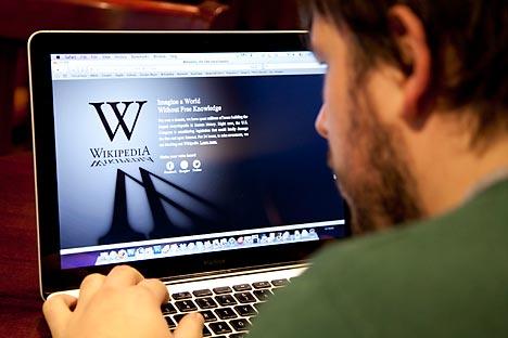 Aus Protest gegen neues Gesetz haben die Macher der Wikipedia das russische Angebot für einen Tag abgeschaltet. Foto:TASS