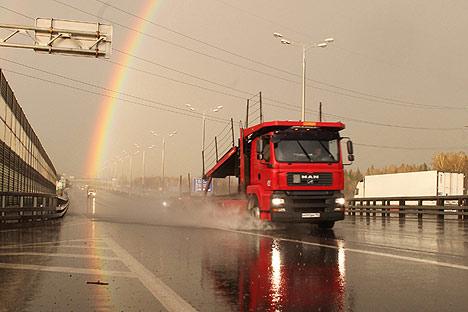 In Zukunft rollen MAN-Brummis aus St. Petersburg durch Russland. Foto: Photoexpress