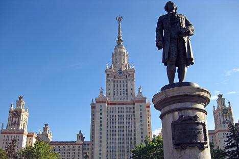 Die von Lomonossow gegründete Moskauer Staatliche Universität. Foto: Cody White