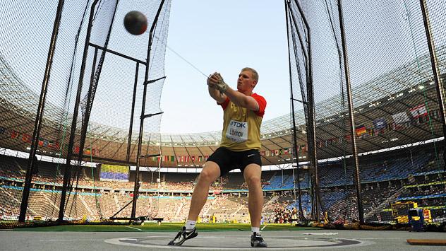 Sergej Litwinow, der Deutsche Leichtathletik-Meisterschaft Champion, wird in London für Russland den Hammer werfen. Foto: Legion Media