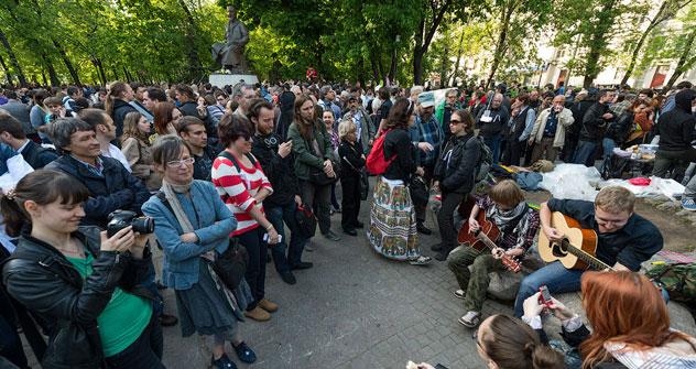 Die Occupy-Abai-Aktion im Moskauer Stadtzentrum. Foto: Ilya Varlamov