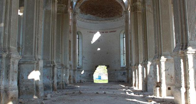Die katholische Kirche in Rybalskoje erinnert an die deutsche Kultur, die vor mehr als 200 Jahren ihren Ursprung genommen hat. Foto: Pauline Tillmann