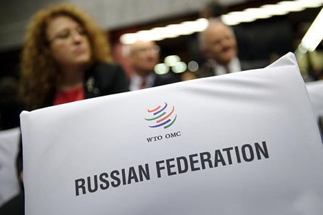 Das Protokoll über die Aufnahme Russlands in das Marrakesch-Abkommen über die Gründung der WTO tritt am 22. August in Kraft. Somit wird Russland zum 156. Mitglied der Organisation. Foto: AFP_Eastnews
