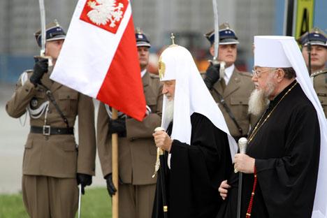 Der russisch-orthodoxe Patriarch Kirill bei seiner Ankunft am Warschauer Flughafen. Foto: ITAR-TASS