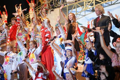 """Kinder-Galakonzert """"Diese Welt gehört uns"""" fand in Bonn im Rahmen des Russlandjahres in Deutschland statt. Foto: Dmitry Vachedin"""