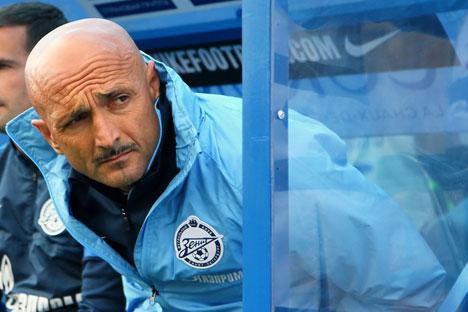 Zenits Cheftrainer Luciano Spalletti: In der Mannschaft herrscht die Unruhe. Foto: ITAR-TASS.