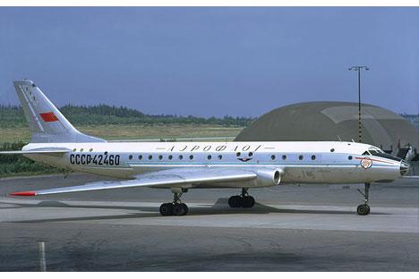 Die Tupolew-104 galt als eines der sichersten Passagierflugzeuge ihrer Zeit. Foto: Lars Söderström