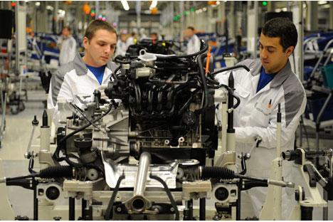 Das VW Autowerk in Kaluga baut seit 2007 PKWs in Russland. Foto: RIA Novosti.