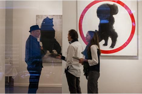Die offizielle Eröffnung des Ablegers der Moskauer Galerie pop/off/art in Berlin. Foto: Katarina Wiedemann