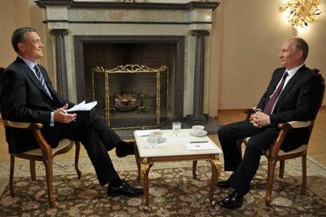Wladimir Putin in seinem  ersten Interview nach dem Wahlsieg in März 2012.  Foto: kremlin.ru