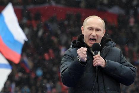 """Heute ist es für Putin schwieriger, den """"Anführer der Nation"""" zu sein. Foto: AFP / East News"""