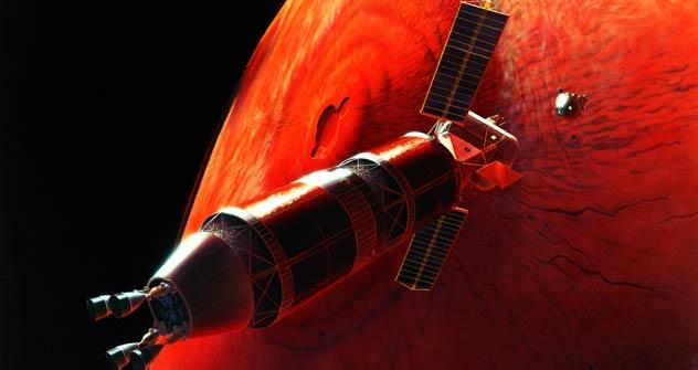 Mikrogravitation, dauernde Abgeschlossenheit, große Entfernung von der Erde sind nur einige von den Risiken für die zukunftige Teilnehmer des interplanetaren Flügs. Foto: NASA.