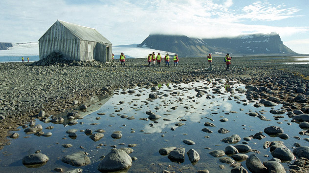 Unendliche Weiten: Franz-Joseph-Land ist eine wenig einladende Inselgruppe weit nördlich des Polarkreises. Foto: ITAR-TASS.