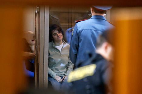Pussy Riot-Prozess: Jekaterina Samuzewitsch wurde im Gerichtssaal freigelassen. Foto: AP