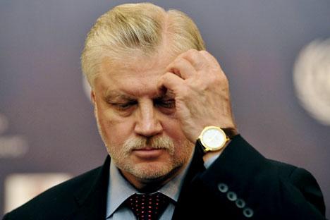 """Unruhe im """"Gerechten Russland"""": zwei Mitbegründer wollen ihre ursprünglichen Parteien wiederbeleben.  Auf dem Bild: SR-Vorsitzender Sergej Mironow. Foto: ITAR-TASS."""
