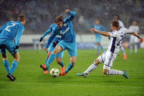 Der dritte Spiel in der Gruppenphase der Champions League gegen Anderlecht hat Zenit einen Sieg gebracht. Foto: ITAR-TASS