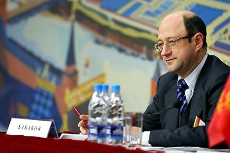 Alexander Babakow: Die Einbeziehung von Landsleuten in Wirtschaftsprojekte im Heimatland ist ein wichsiches Projekt für Russland.Foto: ITAR-TASS.