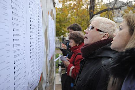 An den  Wahlen des Koordinierungs Rates der Opposition beteiligten sich insgesamt über 80 000 Personen. Foto: ITAR-TASS.