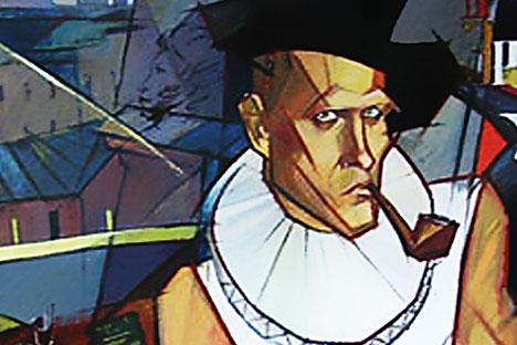 Daniil Charms aus dem Blickwinkel der Bildenden Kunst: Porträt von Tatjana Drutschinina.