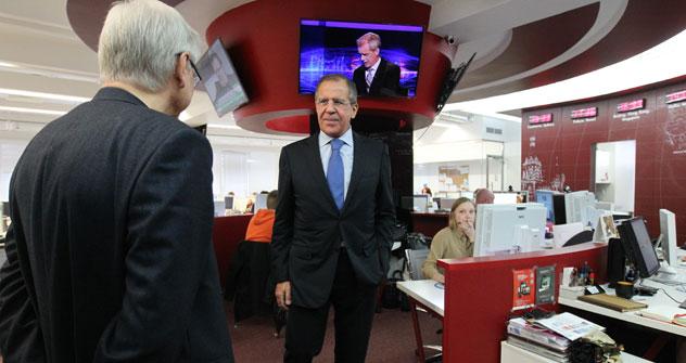 Russischer Außenminister Lawrow zu Besuch bei Russland HEUTE. Foto: RG.