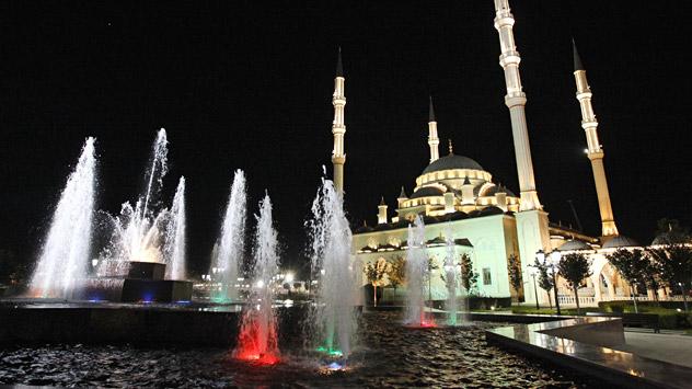 Die neue Achmad-Kadyrow-Moschee in Grosny ist zum Symbol einer Ära des Friedens geworden. Foto: RIA Novosti.