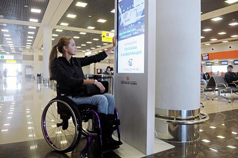 """Obwohl Russland die UN-Konvention """"Über die Rechte von Menschen mit Behinderungen"""" ratifiziert hat, wird sie in der Praxis in vollem Umfang nicht angewendet. Foto: ITAR-TASS."""