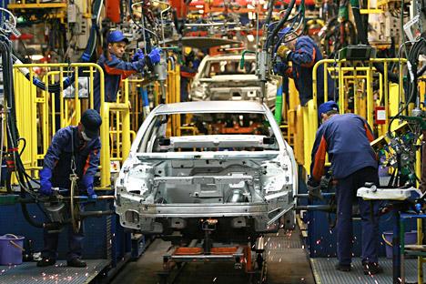 Schon jetzt schraubt Awtotor in Kaliningrad BMWs zusammen. Mit Magna soll die Produktion erweitert werden. Foto: ITAR-TASS.
