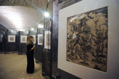Das Architektur-Museum, das in einem mittelalterlichen Raum haust, bot die optimale Kulisse für die Dürer-Ausstellung. Foto: ITAR-TASS