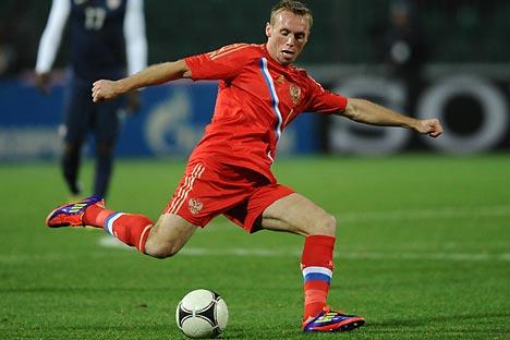 Denis Gluschakow  ist einer von denen, die momentan das neue Gesicht der russische Nationalmannschaft prägen. Foto: ITAR-TASS.