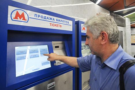 Die einheitliche Fahrkarte für den öffentlichen Nahverkehr Moskaus ist ab April nächsten Jahres erhältlich. Foto: ITAR-TASS.