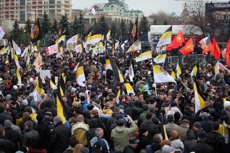 Die Nationalisten und Rechtsextreme demonstrieren in Moskau im November 2012. Foto: Ricardo Marquina, Russland HEUTE