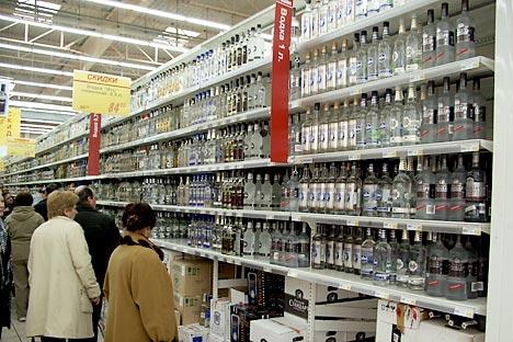 Der Alkoholkonsum in Russland bleibt hoch. Foto: ITAR-TASS