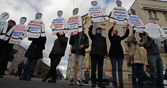 Am Jahrestag  der russischen Proteste sind ein Demonstrationszug sowie eine Unterschriftensammlung geplant. Foto: Reuters / Vostock Photo