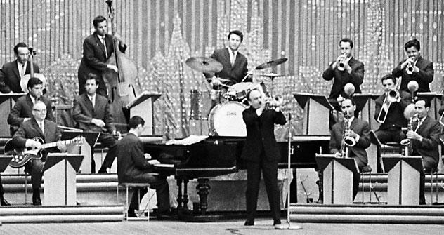Nach seiner Haftentlassung 1954 gründete Eddie Rosner erneut eine Big Band, die bald zur profiliertesten des Landes wurde.  Foto: RIA Novosti.