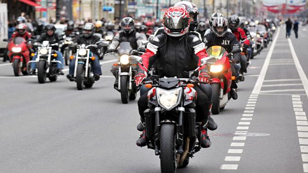 Die russische Biker-Gemeinschaft wuchs in den 2000er Jahren stark an. Foto: ITAR-TASS.