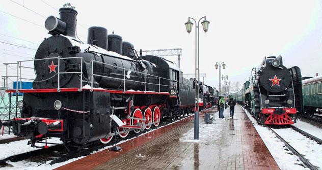 "Historische Dampflok  ""ERka"" (Spitzname der ER 774-38). Foto: Oleg Serdetschnikow."