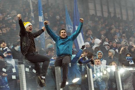 """Diese Fans sind keine Außerirdischen, sondern Mitglieder unserer Gesellschaft"""", so der Präsident des Klubs """"Dynamo"""".  Foto: Kommersant."""