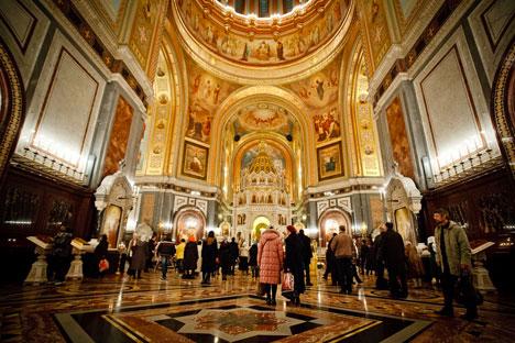 Eine Studie der Stiftung Öffentliche Meinung ergab, dass die Zahl der Orthodoxen in Russland um 50 Prozent geschrumpft ist. Foto: Ruslan Suchuschin