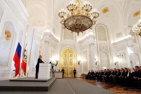 """Wladimir Putin: """"Russland braucht 'Road Maps' für neue High-Tech-Branchen"""". Foto: President.RF"""