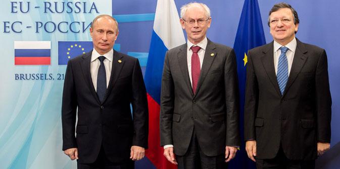 Russland-EU Gipfel in Brüssel: die Stimmung ist trotz Meinungsunterschiede gut. Foto: AP.