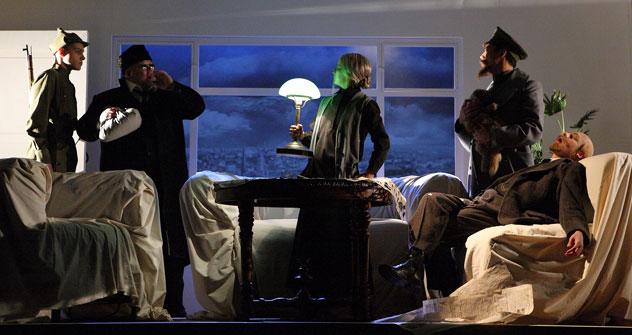 """Spielszene aus dem Theaterstück """"Gorki-10"""". Foto: Natalia Cheban."""
