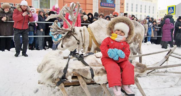 Beim Großen Argisch feiern die Norilsker den Anbruch der Polarnacht. Foto: Pressebild