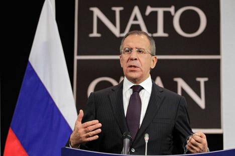 Russlands Außenminister Sergej Lawrow. Foto: AP