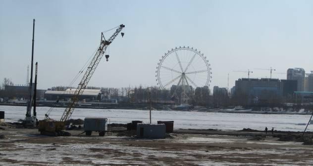 Der Flusses Amur trennt die Stadt Blagoweschtschensk von der chinesischen Stadt Heihe. Foto: Artjom Sagorodnow