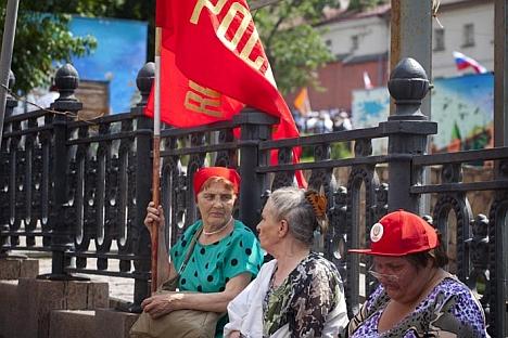 Manche Leute feiern den 1.Mai auf den Straßen der Stadt. Die andere bevorzugen  auf dem Land sich zu entspannen. Foto: Ricardo Marquina,Russland HEUTE