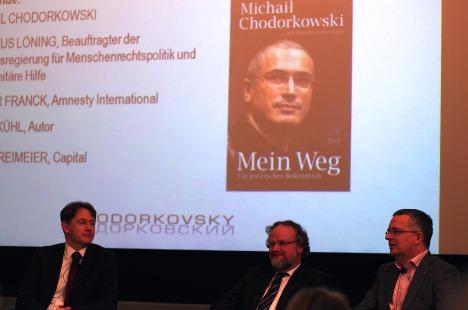 """Während der Präsentation des Buches """"Mein Weg. Ein politisches Bekenntnis"""" von Michail Chodorkowski in Berlin. Foto: Bernát Józsa"""