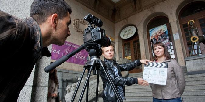 """Das Projekt  """"Filmzug"""" ist den stereotypen Vorstellungen über Russland gewidmet.  Foto: ITAR-TASS"""
