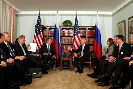 epuis les tribunes de la conférence, Lavrov et Biden ont évoqué l'état des relations russo-américaines. Crédit photo : AP