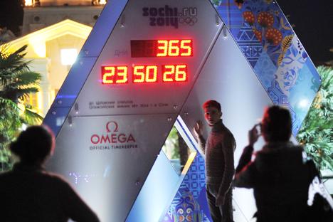 Heute, genau ein Jahr vor der Eröffnung der Sotschi- Olympia, beginnt der Ticketverkauf für die Wettkämpfe. Foto: RIA Novosti