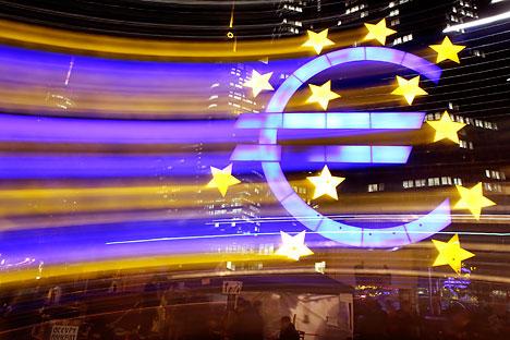 Das Wort Euro, auf Russisch Jevro, hat das Land total erobert. Foto: AP